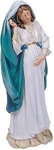 Pregnant Virgin Mary 9 Inch Resin Stone Indoor Outdoor Garden Statue Figurine
