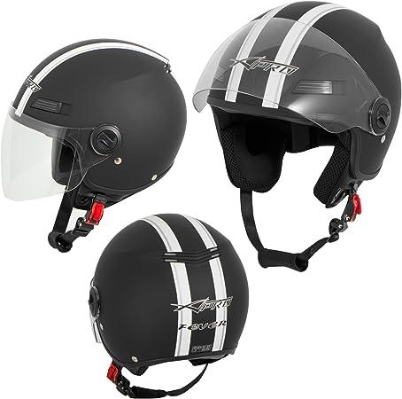 A Pro Motorradhelm Motorrad Roller Offenes Jet Helm Viser Ece 22 05 Matt Schwarz L Auto