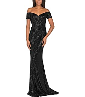 1f13c5dbde7 YSMei Vintage Off Shoulder Mermaid Sequins Evening Dress Long Prom Gowns  YPM492