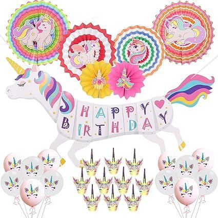 Amazon.com: Pancarta con diseño de unicornio de arcoíris ...