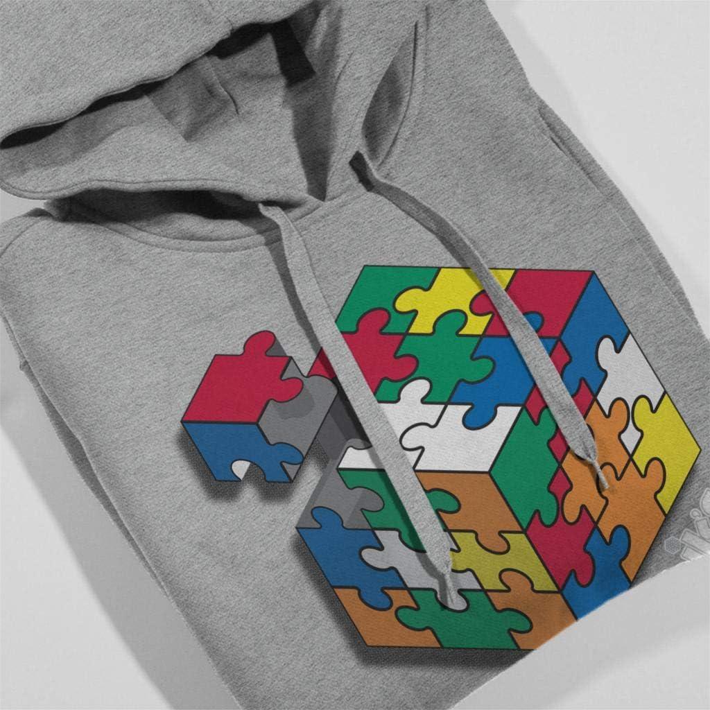 Rubiks Hashtag Playtime Mens Hooded Sweatshirt