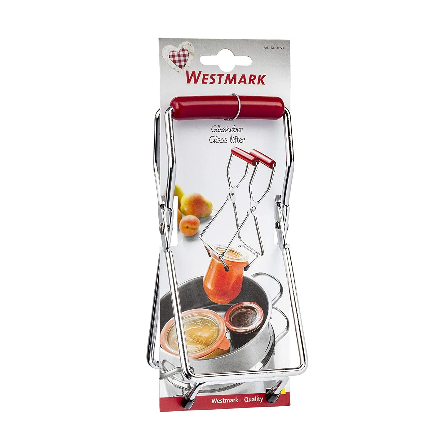 Westmark 10532270 Glass Lifter Silver//Red