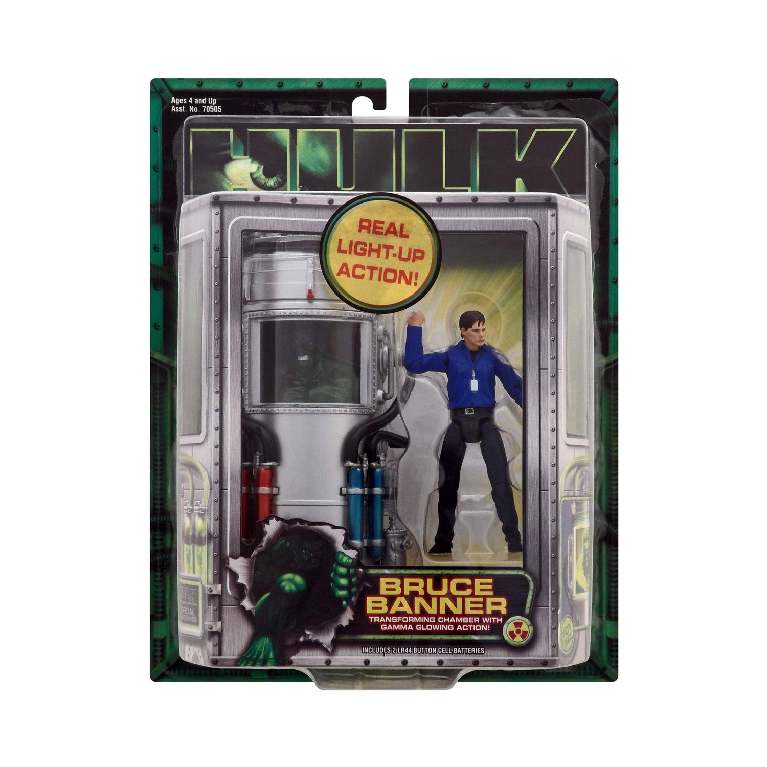 Hulk, Bruce Banner, Transforming Chamber with Gamma Glowing Action