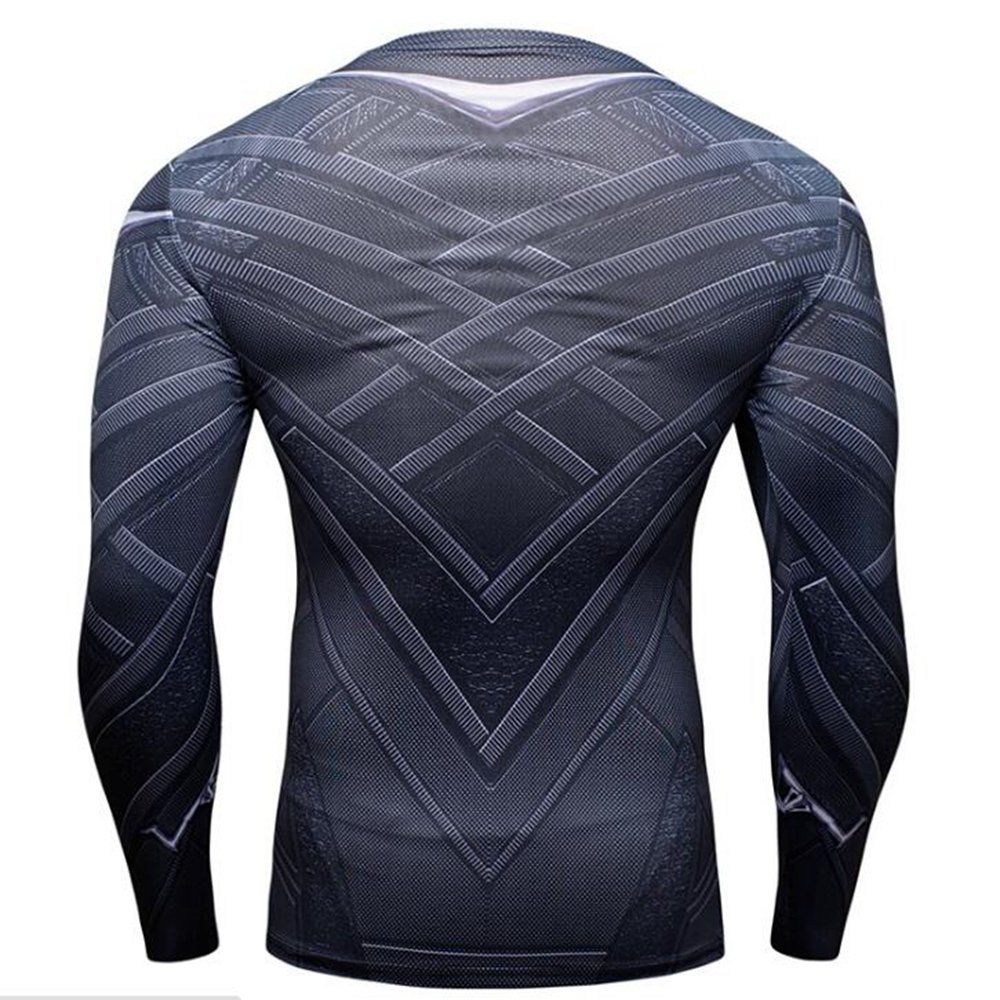 f43c6274871 Amazon.com  Jecool Black Panther T Shirt Men Fitness Shirt Tops Cosplay  Costume Boys Long Sleeve  Clothing