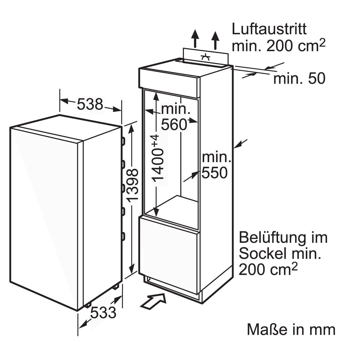 Siemens KI25FA65 Einbau-Kühlschrank / A++ / Kühlen: 127 L ...