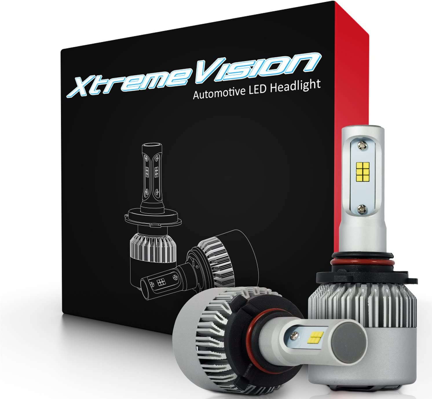 XtremeVision 7G 72W 16,000LM - 9005 LED Headlight Conversion Kit - 6500K CSP LED - 2019 Model