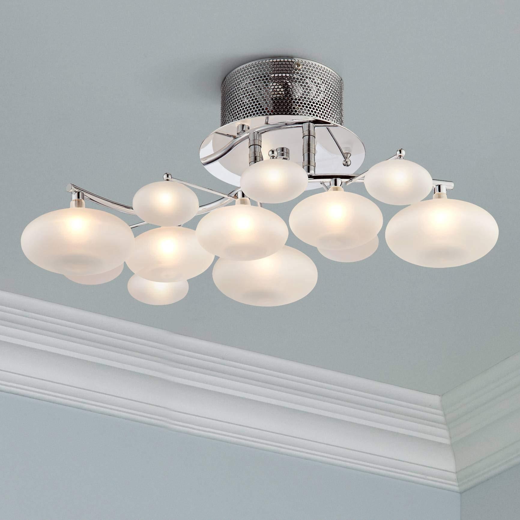 Possini Euro Lilypad 19 1/4'' Wide Etched Glass Ceiling Light - Possini Euro Design
