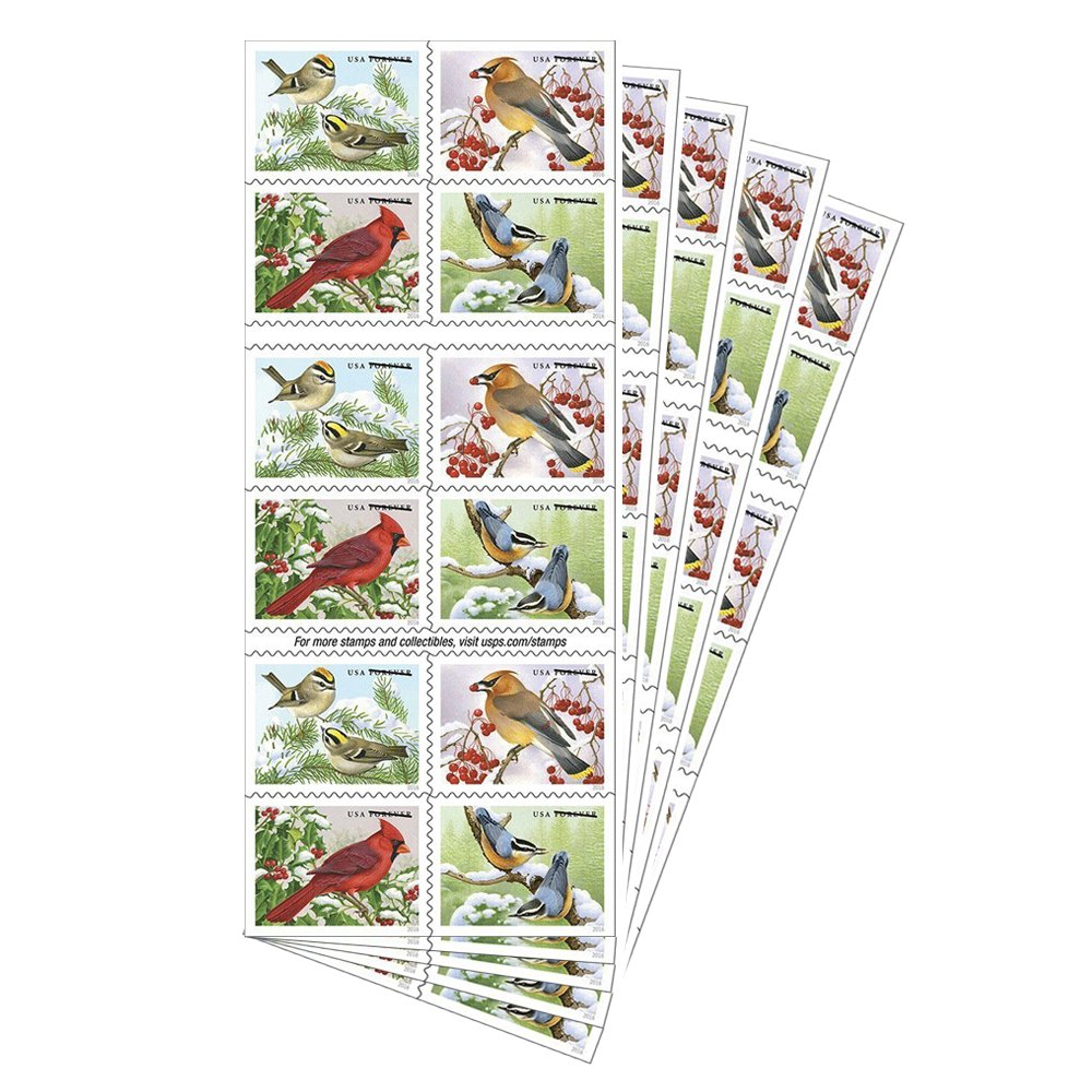 songbirds in snow forever first class postage stamps brighten cold winter ebay. Black Bedroom Furniture Sets. Home Design Ideas