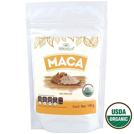 Amazon.com: Pure Organic Maca Powder - ZENnatura Maca Organica En Polvo 150g: Health & Personal Care