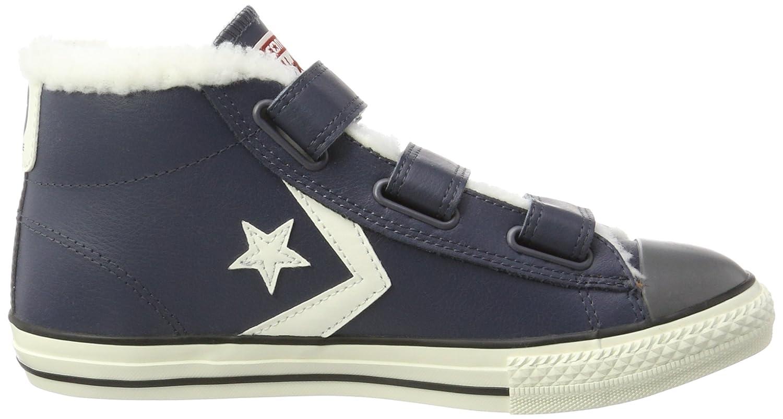 Converse Unisex-Kinder Star Player EV 3V Mid Sharkskin/Egret Hohe Sneaker, Blau (Sharkskin), 29 EU