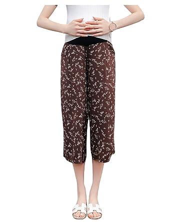 Legou Femme-Pantalon de Grosse-Motif Floral Stretch Jambe ...