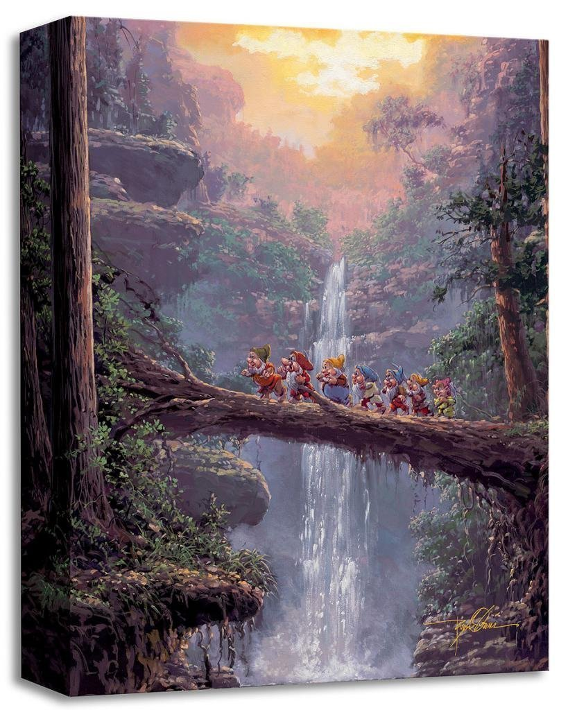 Homeward Bound - Treasures on Canvas - Disney Fine Art Snow White and the Seven Dwarfs Gallery Wrapped Canvas Wall Art by Rodel Gonzalez
