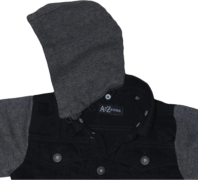 A2Z 4 Kids Kids Boys Denim Jacket Designers Fleece Sleeves /& Hood Stylish Jeans Jackets Trendy Fashion Coats New Age 2 3 4 5 6 7 8 9 10 11 12 13 Years
