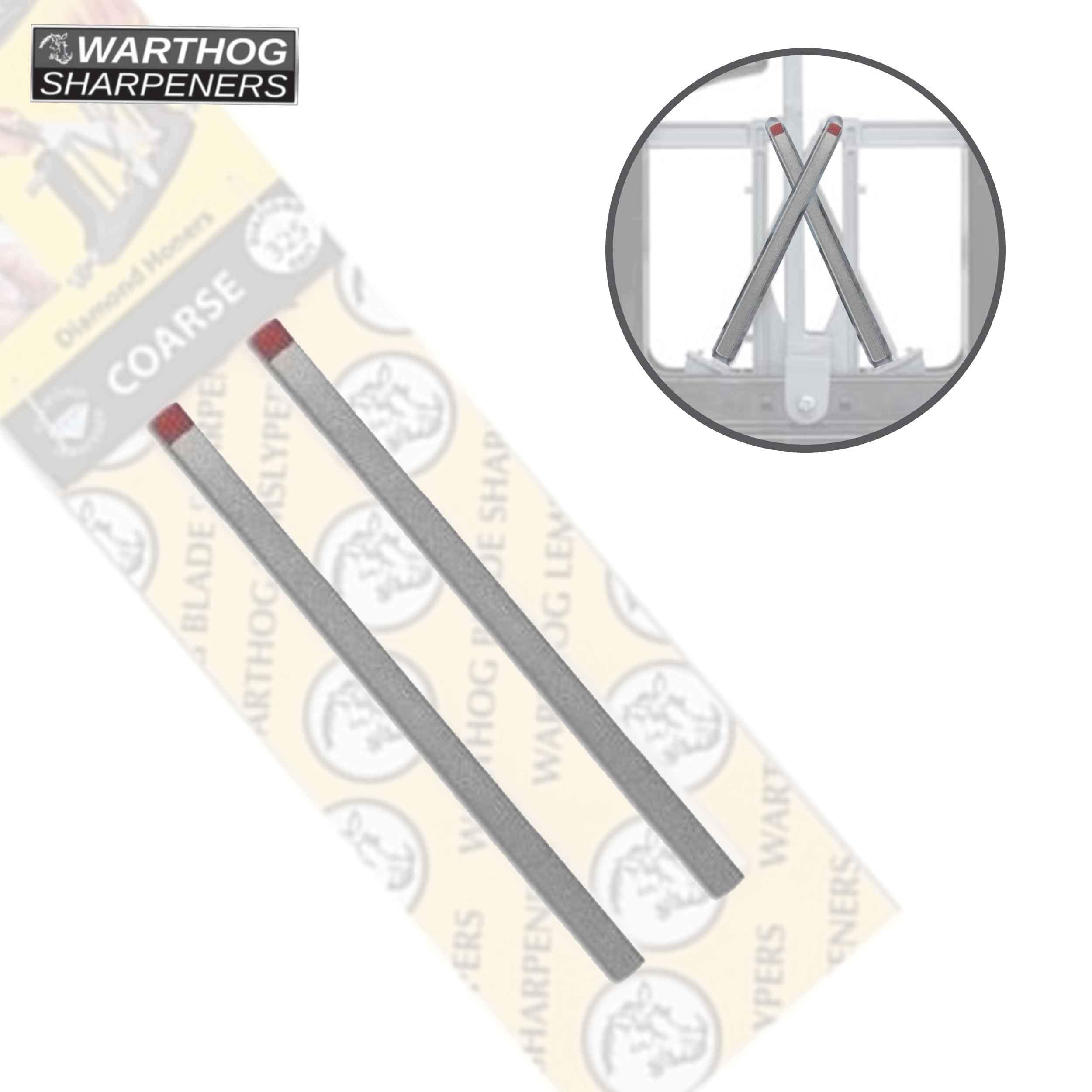 Vsharp Warthog Sharpeners Combination Diamond Honers Medium & Fine by Warthog