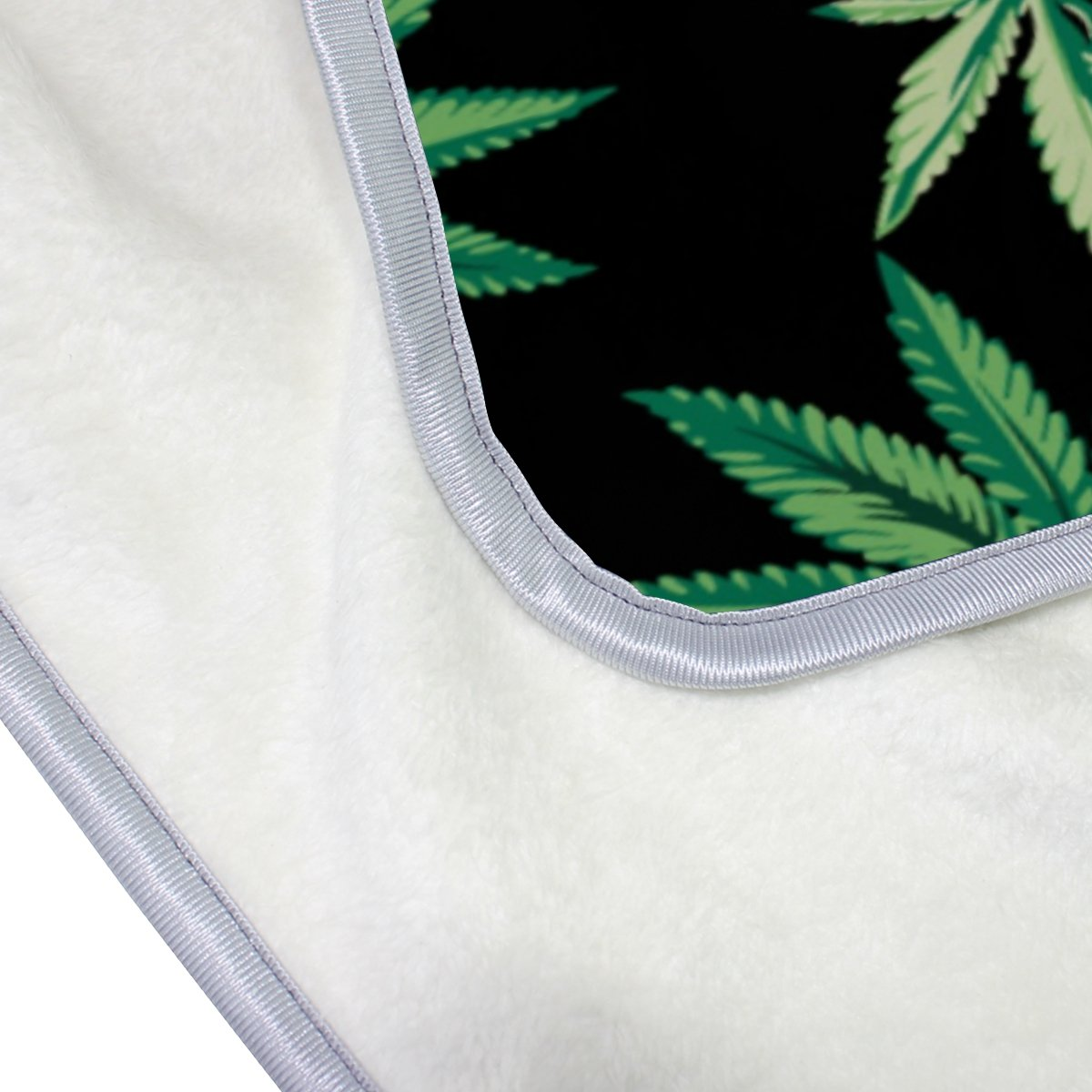 Hoja de Marihuana Cannabis de poliéster de manta de microfibra 50