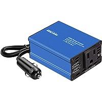 Bapdas 150W inversor de corriente de coche DC 12V a 110V AC convertidor de coche 2 puertos USB adaptador de cargador de…