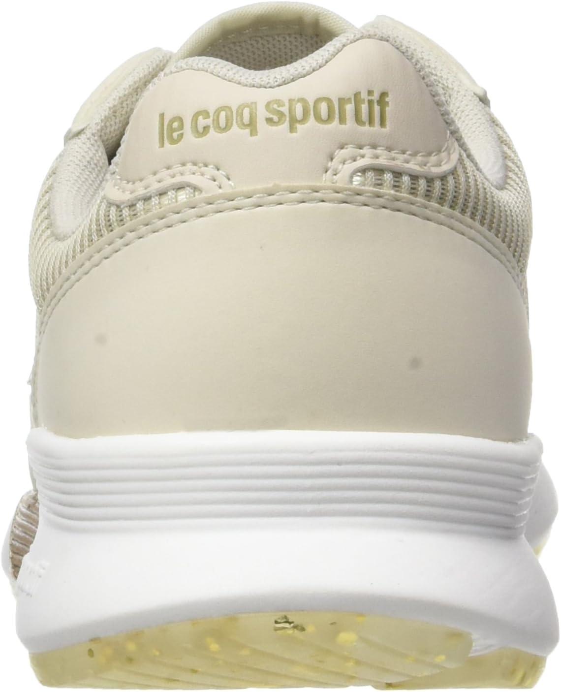 le coq Sportif Omega X W Striped Sock Sparkly Trainer Low, zwart Beige Turtle Gris Dove