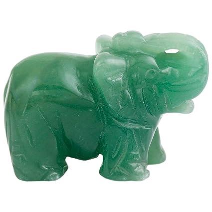 Amazon Com Natural Jade Elephant Statue Ornaments Crafts Healing