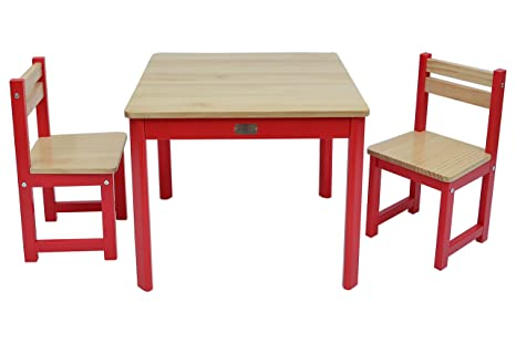 Tikktokk envy boss set tavolo e sedie legno colore rosso
