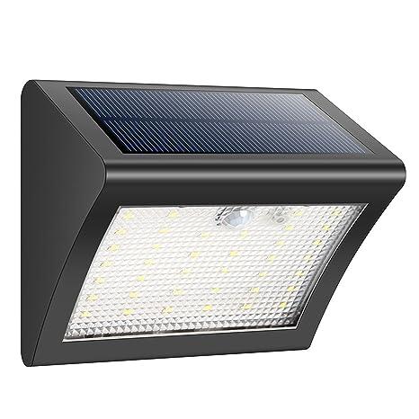 Luces solares sensor movimiento luces de Seguridad Wireless impermeable exterior luces solares luces exterior para jardín