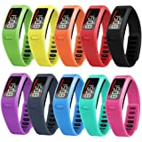 SnowCinda Soft Rubber Replacement Bands Fitness Wristbands for Garmin Vivofit Bands Large Small
