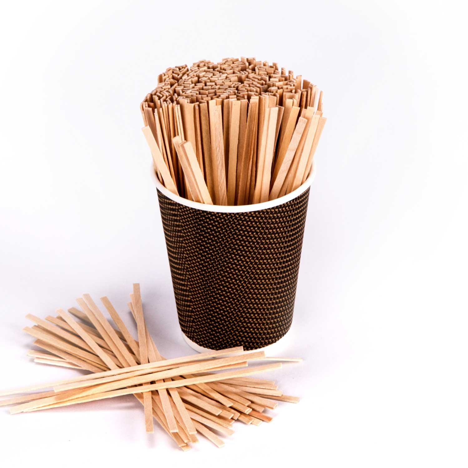 Royal 1000 Count Wood Coffee Beverage Stirrers, 5.5'' by Royal (Image #5)