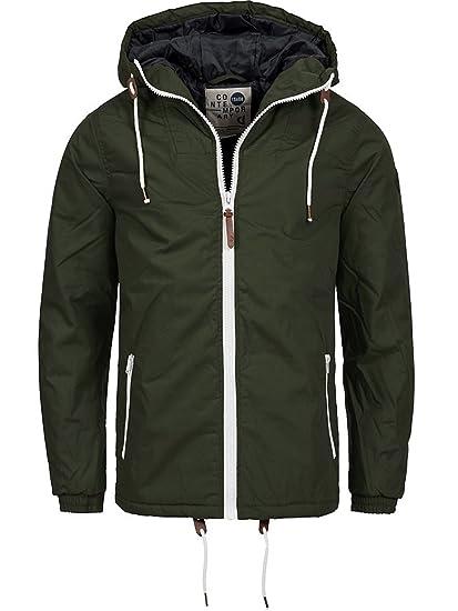 !Solid Herren Spunk Übergangsjacke Jacke mit Kapuze aus Hochwertigem Material Regenjacke Softshell