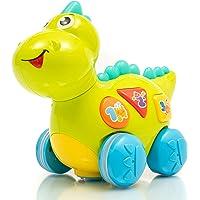 ZenTeck Cutest Interactive Talking Singing Learning T-Rex Dinosaur Pet Toy Child-Safe, BPA-Free, Basic Life Skills…