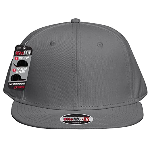 OTTO FLIP Cotton Twill Flat to Full Flip Round Visor 6 Panel Baseball Cap -  Char. Gray at Amazon Men s Clothing store  8e098f9e95ad