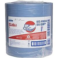 WypAll - KCC41043 X80 Toallitas reutilizables de uso prolongado Jumbo Roll, azul, 475 hojas/rollo; 1 rollo/estuche