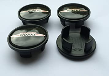 Juego de 4 tapacubos para Mini John Cooper Works Logo 54 mm R50, R52 R57 R58: Amazon.es: Coche y moto