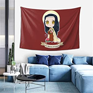 Chibi St Therese of Lisieux Wall Tapestry Apestry Album 3D Wall Hanging Art Home Decor Wave Tapestries