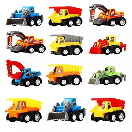 Toys For 3 5 Year Old Boys Tisy Mini Toy Cars 12 Pack Construction