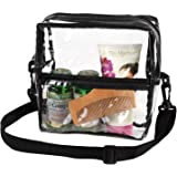 Bags for Less Clear Cross Body Messenger Tote Shoulder Bag Stadium Approved - with Long Adjustable Strap