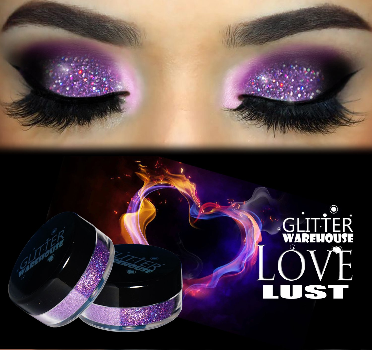 Amazon Com Love Lust Glitterwarehouse Lavender Holographic Loose