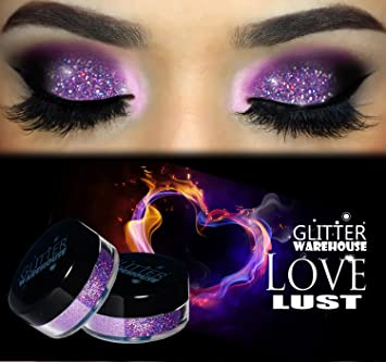 Amazon Com Love Lust Glitterwarehouse Lavender Holographic Loose