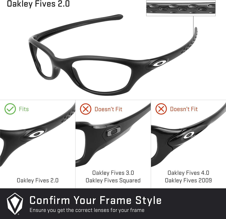Revant Verres de Rechange pour Oakley Fives 2.0 - Compatibles avec les Lunettes de Soleil Oakley Fives 2.0 Rouge Feu Mirrorshield - Polarisés Elite