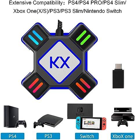 GZW-Shop Convertidor de Teclado y ratón, Adaptador KX de ...