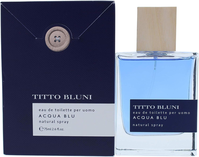 Titto Bluni Acqua Blu Uomo Eau de Toilette Natural Spray 75ml