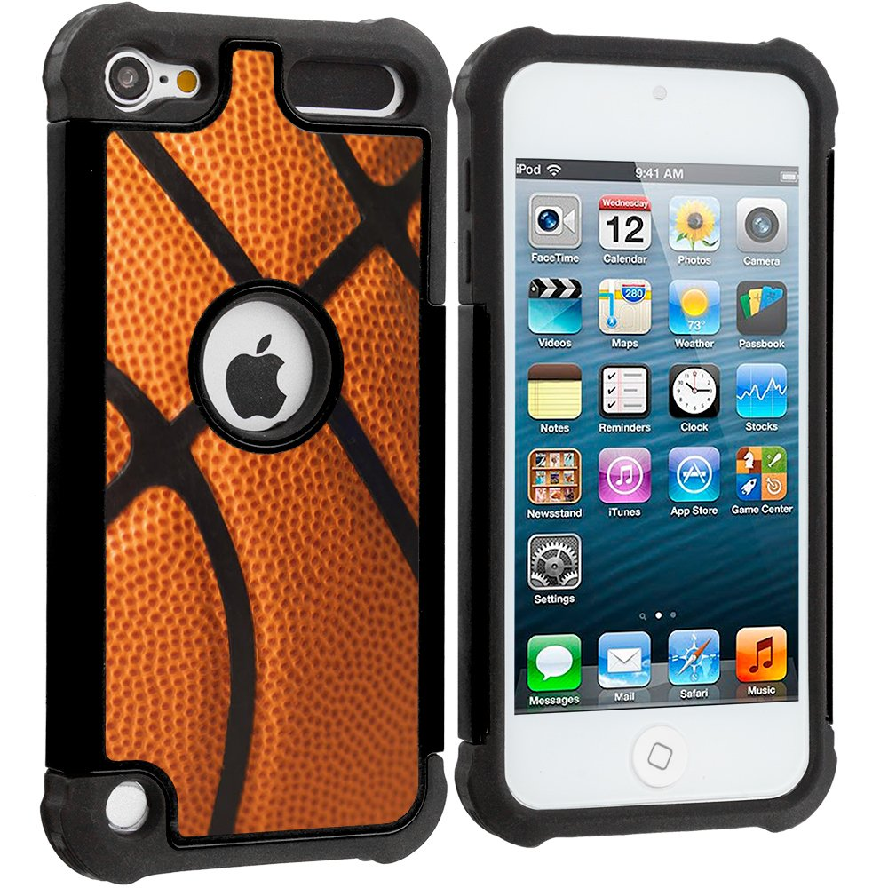 Corpcase - Hybrid Case for iPod Touch 6 / iPod Touch 5  - Basketball / Unique Case With Great Protection