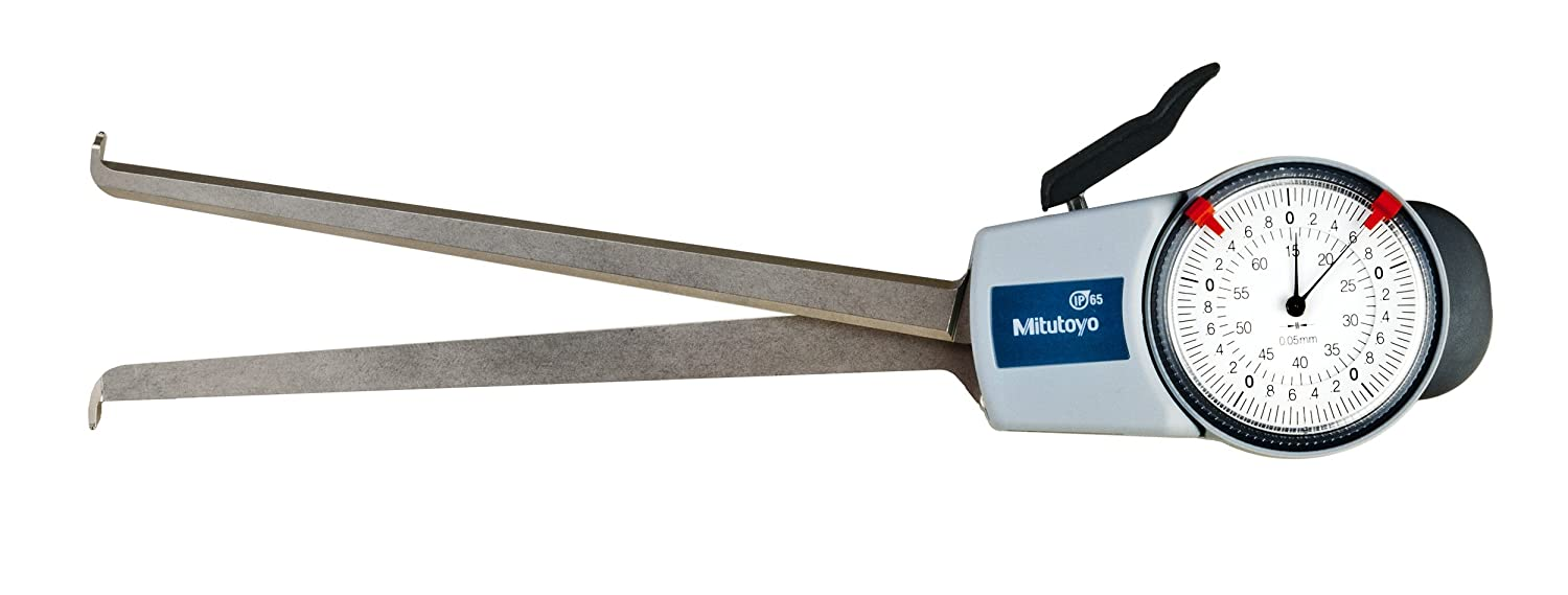 Image of Mitutoyo 209-901 Dial Caliper Gage, 15-65 mm, 0.05 mm, 188 mm Depth with Internal Measurement