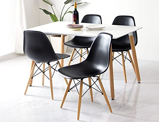 Woopi Conjunto de Mesa 120 + 4 sillas: Amazon.es: Hogar