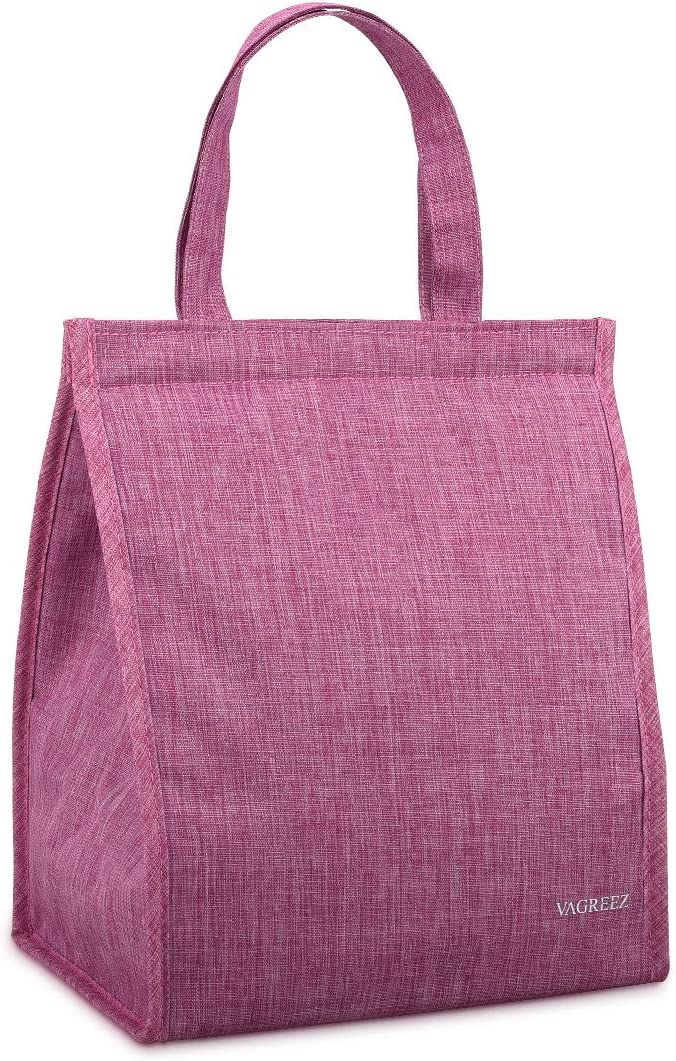Lunch Bag, VAGREEZ Insulated Lunch Bag Large Waterproof Adult Lunch Tote Bag For Men or Women (Total Purple)