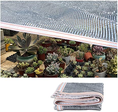Toldo Vela Toldos Reflectantes de Aluminio Toldos de Sombra Paño de la Cortina con Ojales UV Sunblock Sun Mesh 3x3m para Acampar Aire Libre Ocultar Protector Solar Jardín Decoración Coche Cubierta Som: