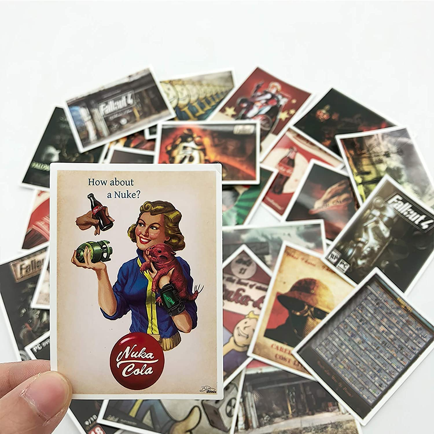 25 Pcs Fallout 3 4 Game Sticker for Luggage Skateboard Phone Laptop Moto Bicycle Wall Guitar Waterproof PVC Stickers