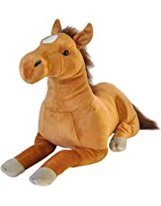"Wild Republic Jumbo Horse Plush, Giant Stuffed Animal, Plush Toy, Brown, 30"""