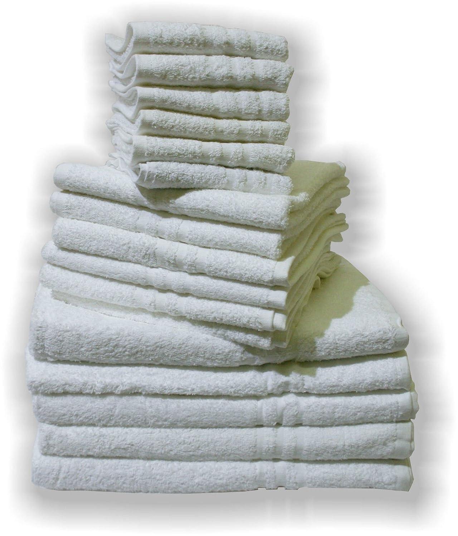 Asciugamano Viso Per Forniture Alberghi B&B Spugna 400g 6pz Bianco Il Bottegone