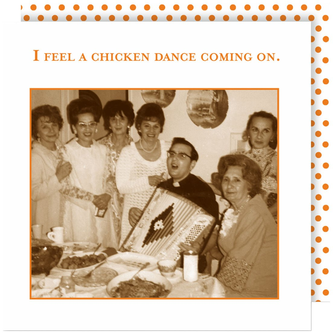 Shannon Martin Design 20-Count 3-Ply Paper Beverage Napkins, Chicken Dance