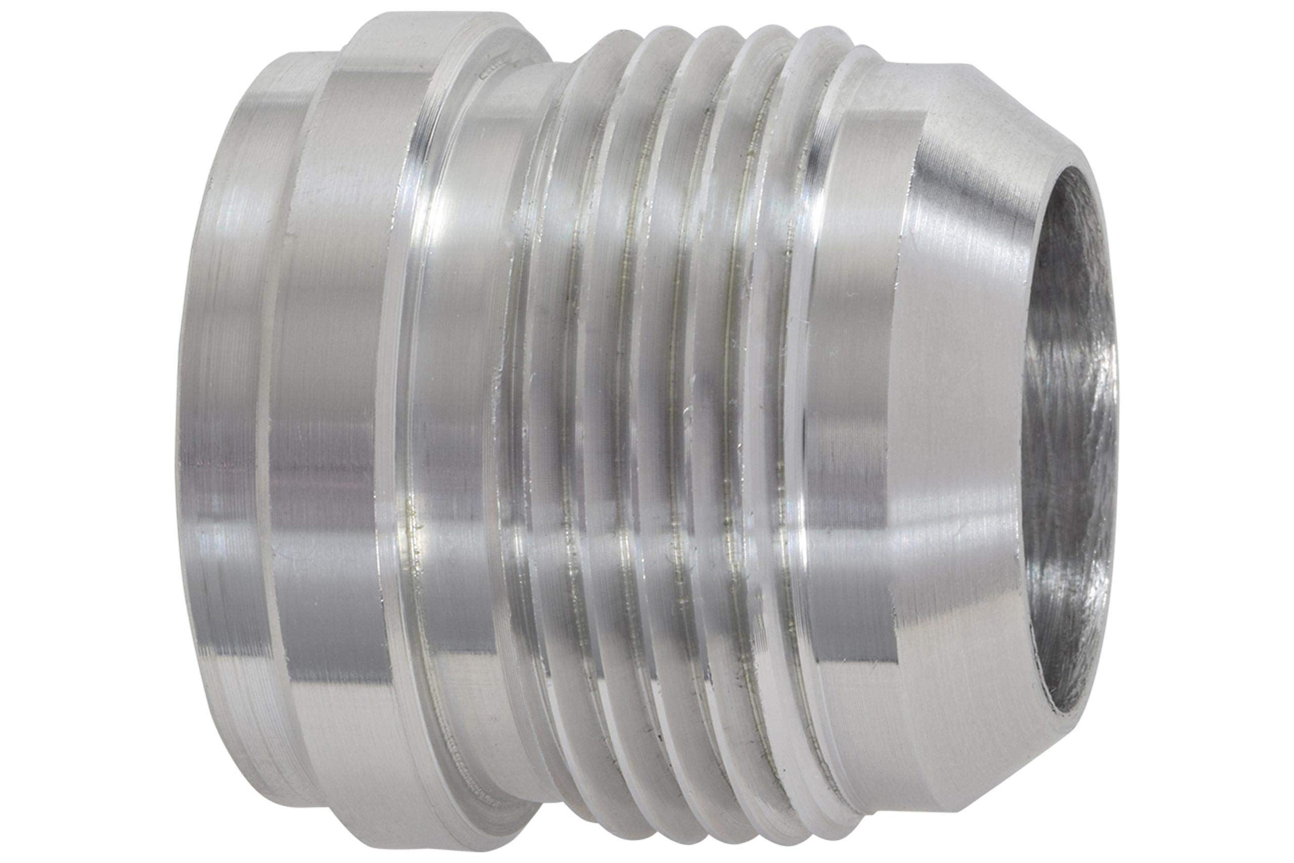 Steel AN Weld on Bung 6AN Male Flare Hose Fittting Adapter Weldable Steel End Nipple with Step