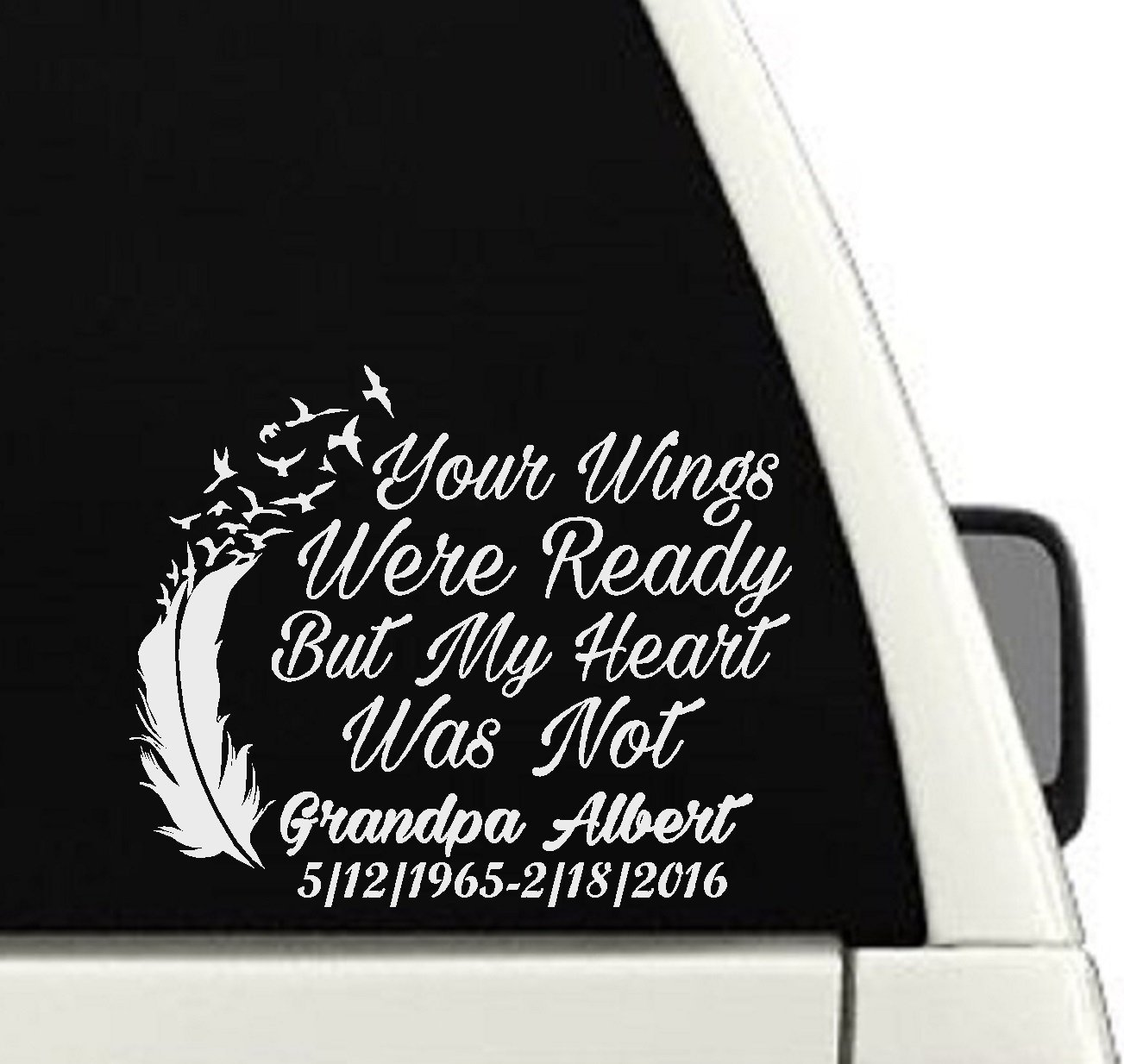 Amazoncom Your Wings Were Ready But My Heart Was Not Memorial - Decals for your car